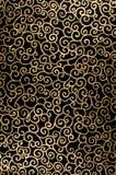 Golden abstract arabesque. Golden abstract seamless arabesque  on black background Royalty Free Stock Photos