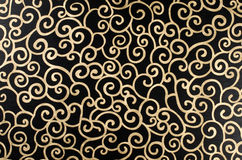 Golden abstract arabesque Stock Photo