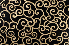 Golden abstract arabesque. Golden abstract seamless arabesque  on black background Royalty Free Stock Photography