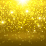 Golden abstract background Stock Photography