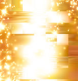 Golden abstract background. With some glitters on it vector illustration