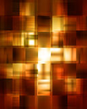 Golden abstract background. With some cubic features in it royalty free illustration