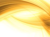 Golden Abstract background. Abstract background of dynamic golden lines Royalty Free Stock Photography
