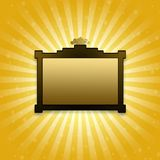 Golden abstract background. In  for design Royalty Free Stock Images