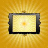 Golden abstract background. In  for design Stock Photos