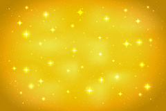 Golden abstract background with glittering stars. Vector design template Vector Illustration