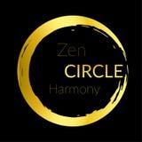 Golden abstract beautiful zen circle design Stock Photography