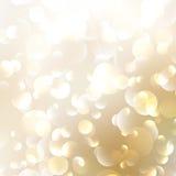 Golden Abstract Bokeh Background. Stock Photos