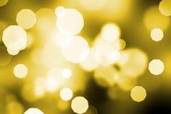 Golden abstract bokeh Stock Photography