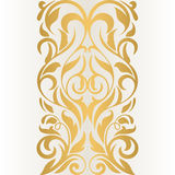 Golden abstract border on a light background. Vintage pattern. Royalty Free Stock Images