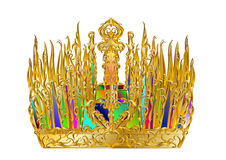 Golden abstract crown Stock Photo