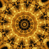 Golden abstract forms, fractal stock images
