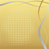 Golden abstract frame Royalty Free Stock Images