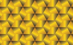 Golden abstract geometric background for your creative design ideas. 3D golden cubes organized in a pattern within abstract geometric background, for beautuful Royalty Free Stock Photography