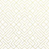 Golden abstract geometric pattern background with gold. Glitter mesh texture. Vector seamless ornate geometry pattern of rhombus and metal lines for luxury royalty free illustration