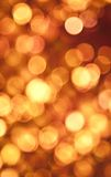 Golden Abstract Lights Stock Images