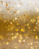 Golden abstract motion and blur background . Stock Photo