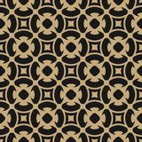 Golden abstract pattern in Arabian style. Gold and black seamless floral background. Golden abstract pattern in Arabic style. Seamless vector background with Royalty Free Stock Photo