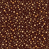 Golden abstract shining falling stars seamless texture brown background Royalty Free Stock Image