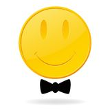 Golden abstract smile face Stock Image