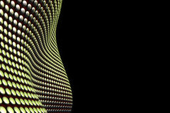Golden, abstract structure on black background. With place for input Royalty Free Stock Photos