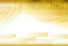 Golden Abstract Undulations Template Royalty Free Stock Images