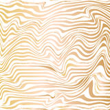 Golden abstract wave line ink texture. Stock Image