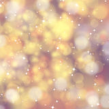 Golden abstract Xmas background Stock Image