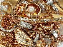 Golden accessories Stock Photo