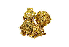 Golden accessories isolated Stock Photography