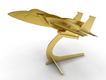 Golden airplane trophy Stock Photography