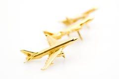 Golden Airplanes Stock Photo