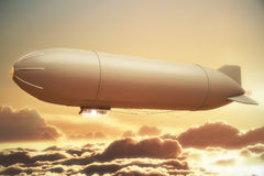 Golden airship Royalty Free Stock Photos