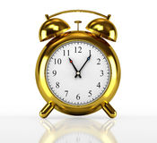 Golden alarm clock Royalty Free Stock Photography