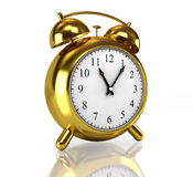Golden alarm clock Royalty Free Stock Photos