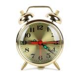 Golden alarm clock Royalty Free Stock Photography