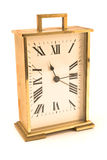Golden alarm clock Royalty Free Stock Photo