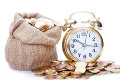 Golden alarm clock Royalty Free Stock Photo