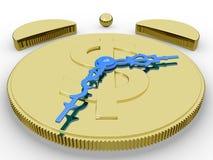 Golden Alarm Clock royalty free stock images