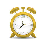 Golden Alarm Clock Vector Illustration Royalty Free Stock Photos