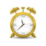 Golden Alarm Clock Vector Illustration Royalty Free Stock Photos