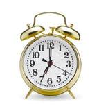 Golden alarm clock Stock Photography