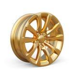Golden alloy rim  on white background Royalty Free Stock Photos