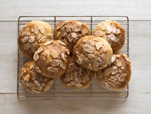 Golden almond buns Royalty Free Stock Photo