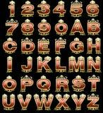 Golden alphabet royalty free stock image