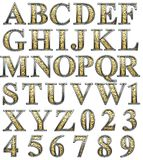 Golden alphabet Stock Photography