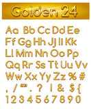 Golden 24 Alphabet Stock Photos