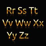 Golden alphabet Royalty Free Stock Photography