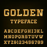 Golden Alphabet Vector Font. Royalty Free Stock Image