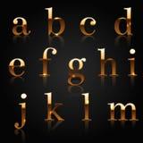 Golden alphabet Royalty Free Stock Photography